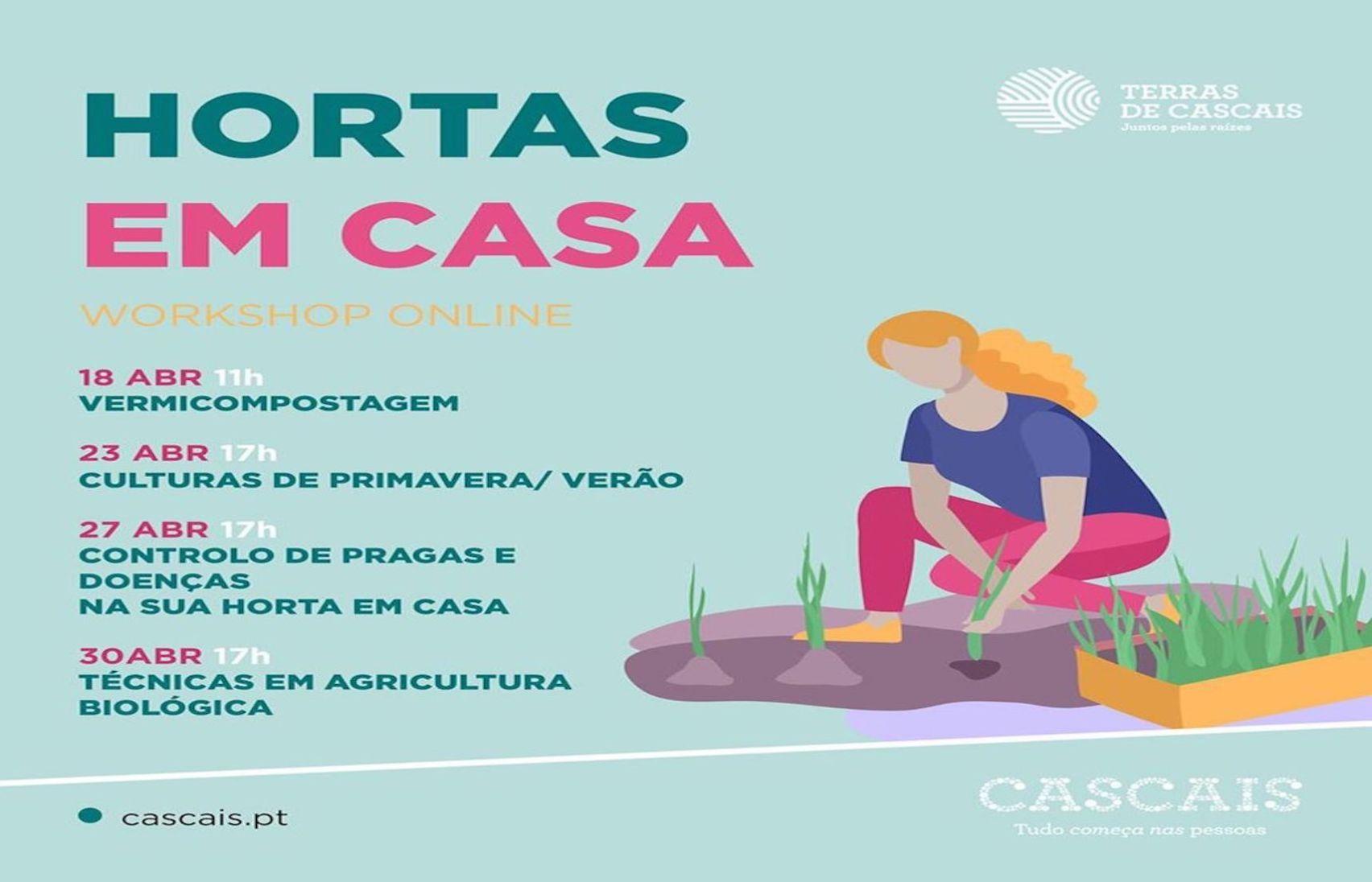 Ciclo de Workshops online Hortas em Casa