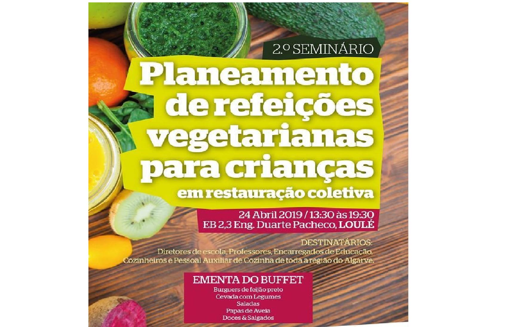2 Seminário Planeamento de refeições vegetarianas para crianças