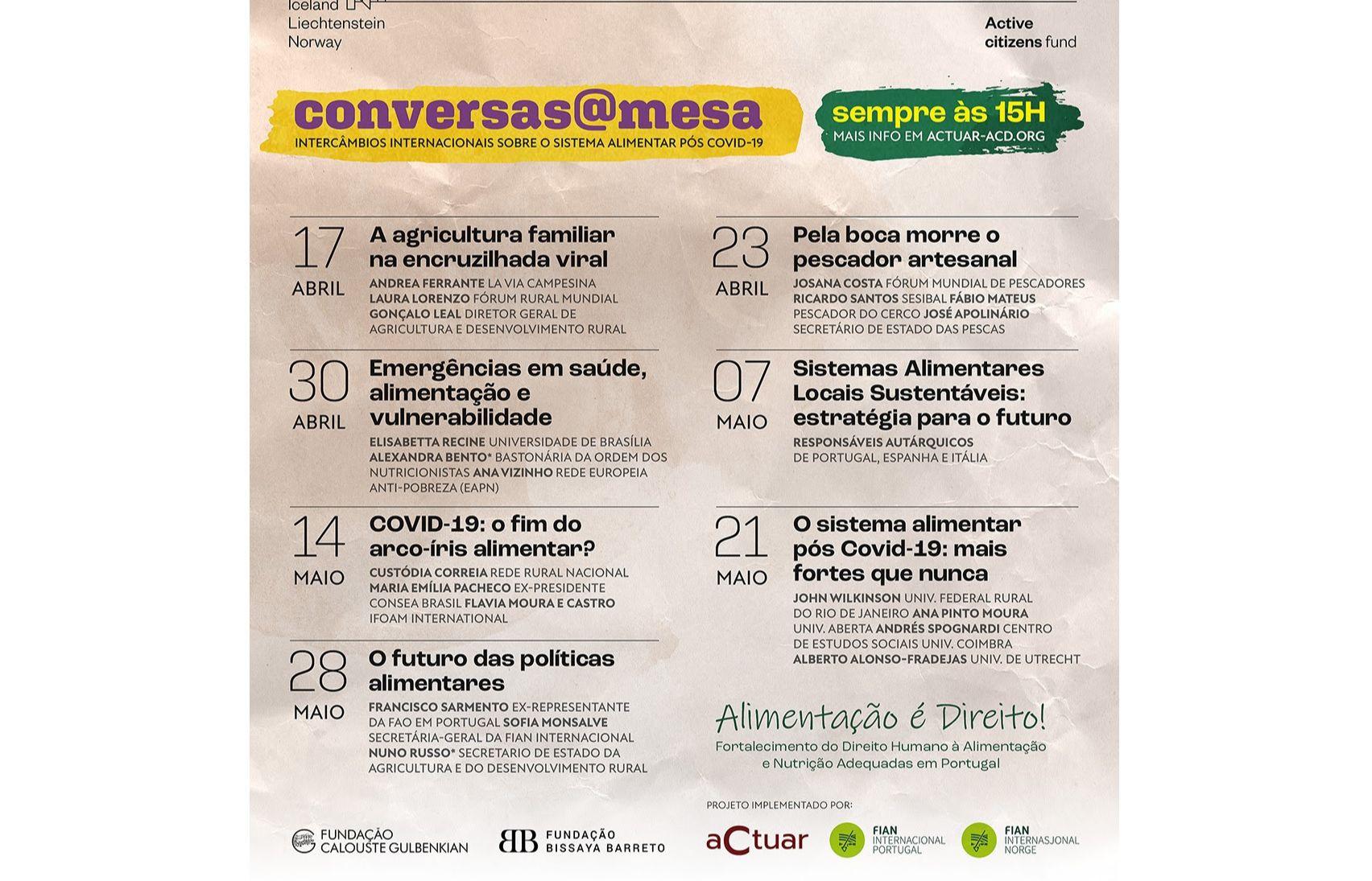 Conversas à mesa - Intercâmbios Internacionais sobre o Sistema Alimentar Pós Covid-19