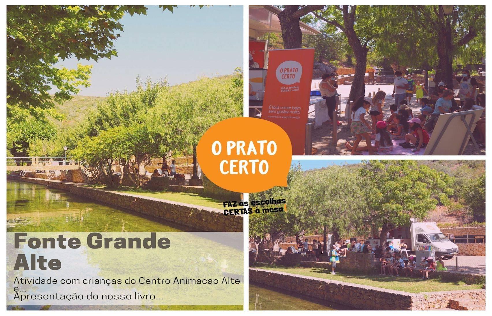 Lançamento do Livro Prato Certo na Fonte Grande em Alte!