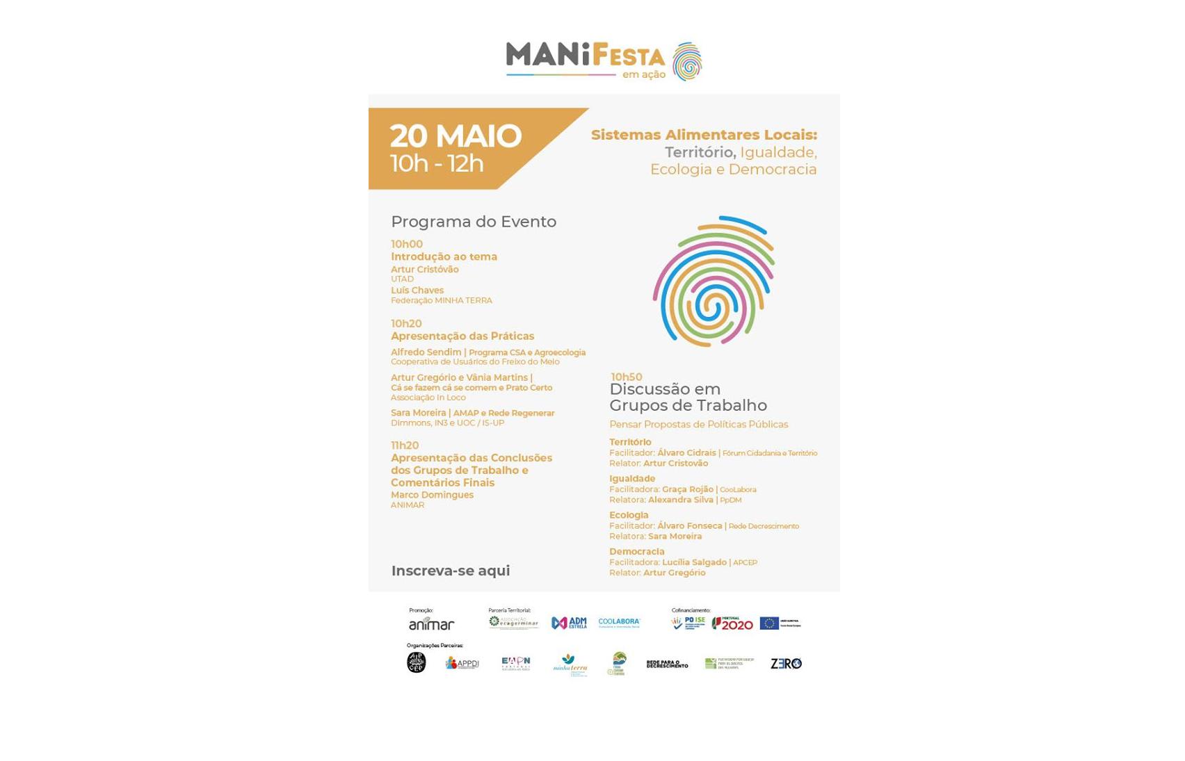 Construir Comunidades Justas e Sustentáveis: ciclo de webinários da MANIFesta 2020