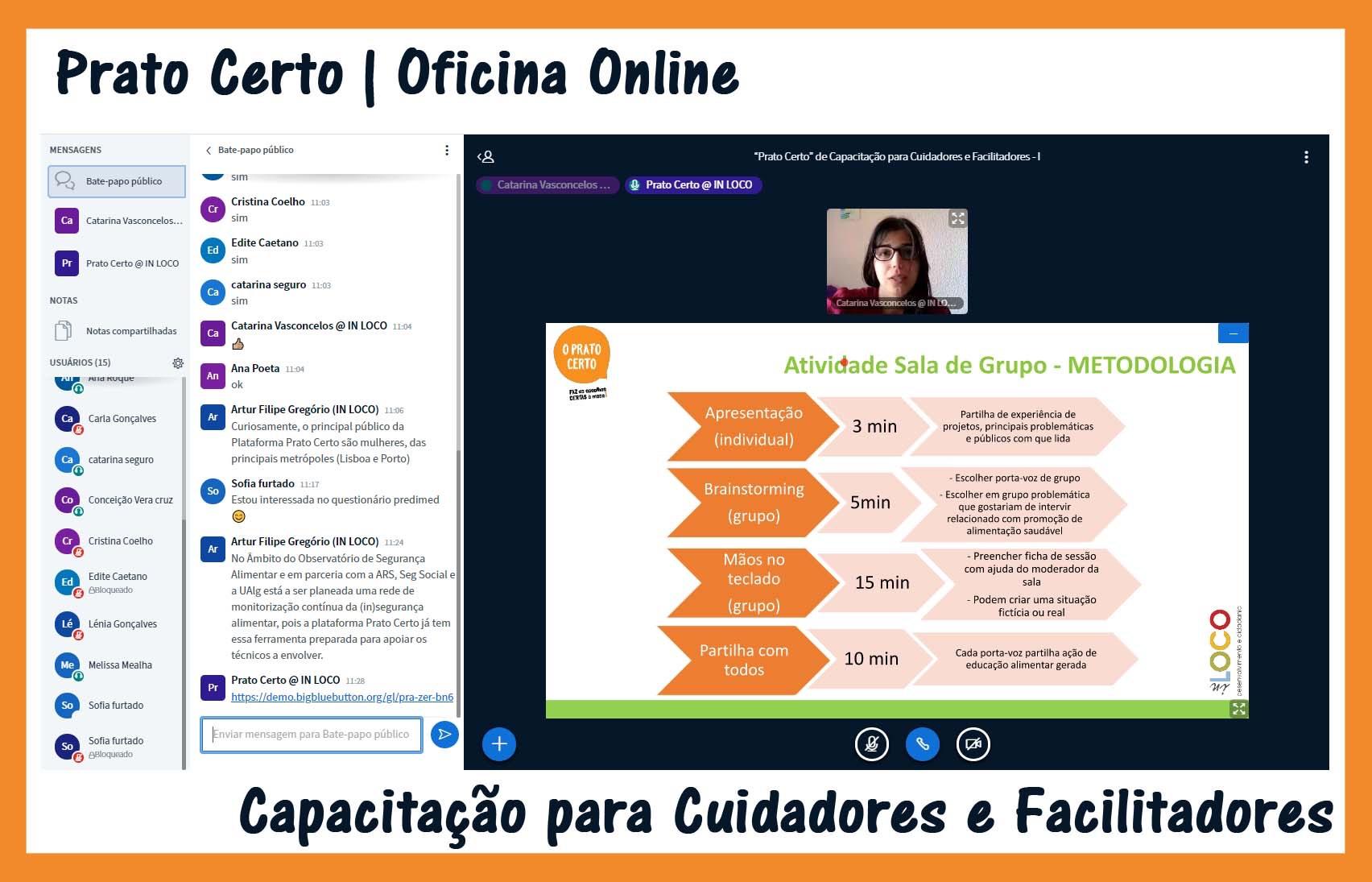 Prato Certo arranca com Oficinas Online para Cuidadores e Facilitadores de grupos vulneráveis