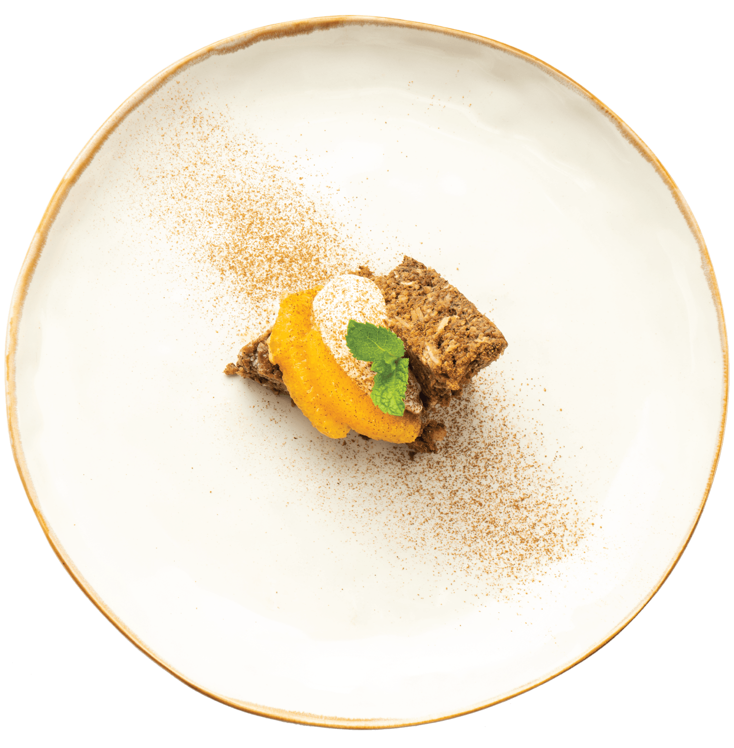 Bolo de feijão-preto com amêndoas