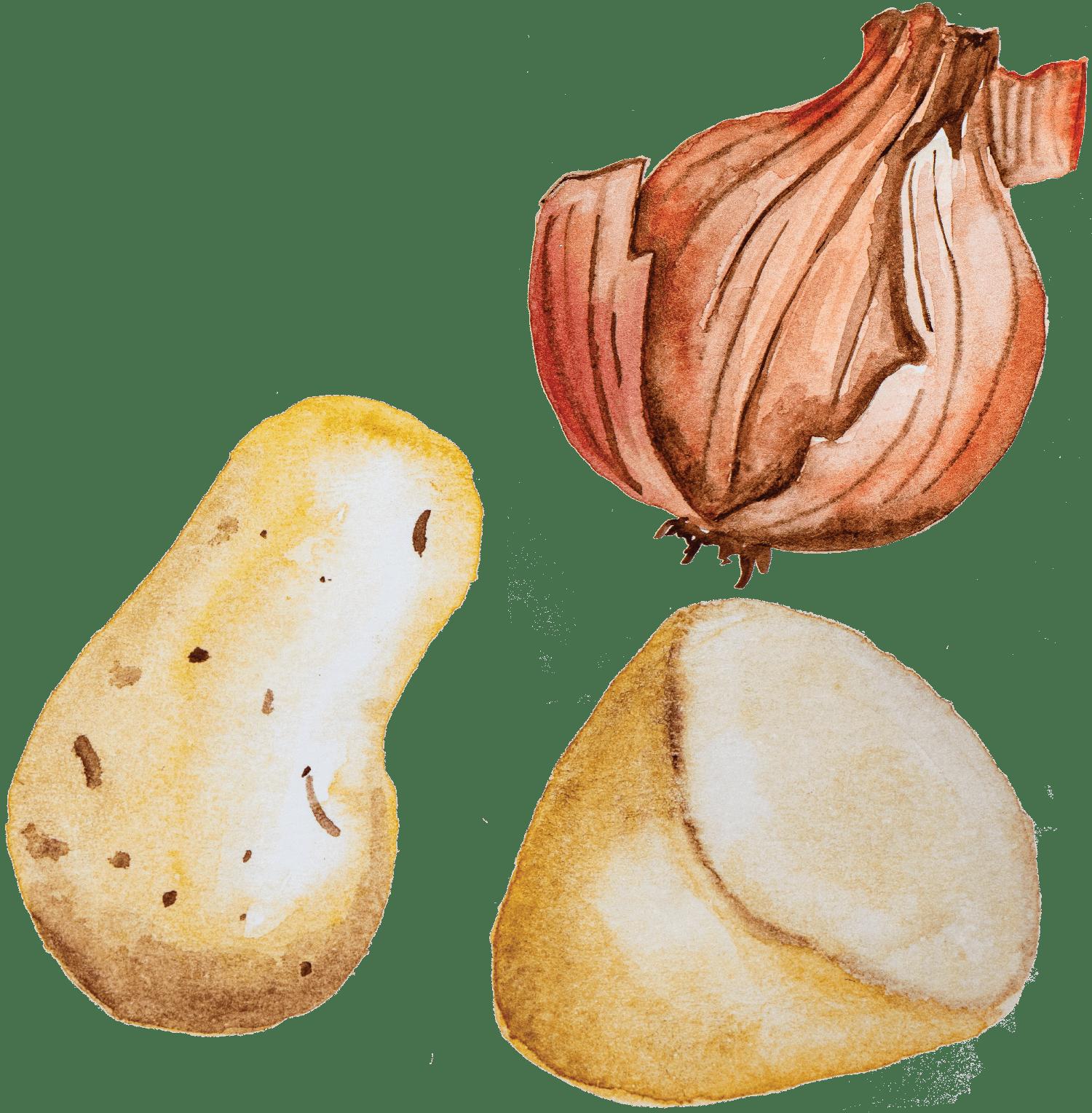 Batatas e Cebolas