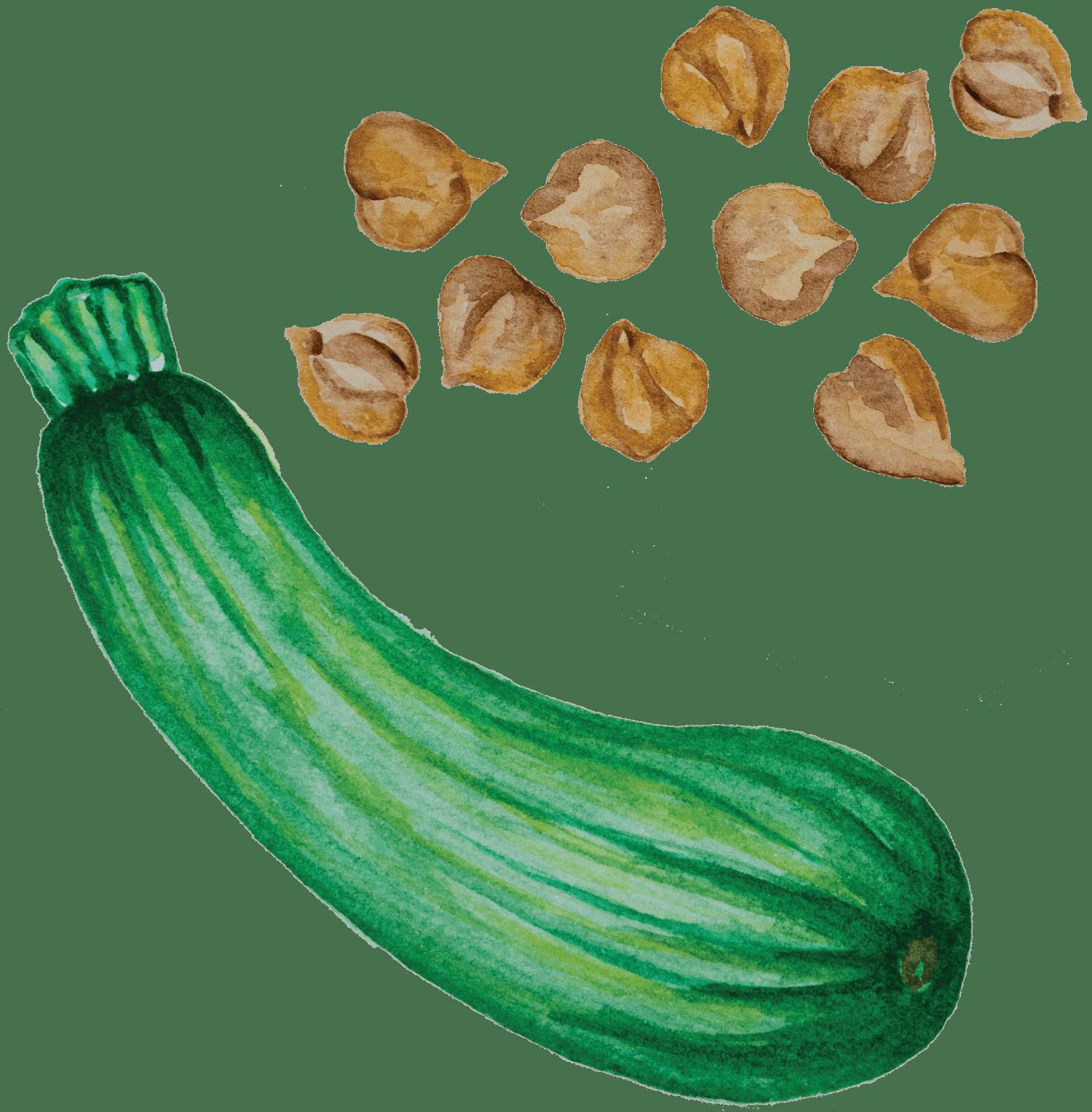 Bolinhos de Courgette e grão